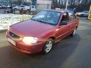 Хендай Акцент 2004 1.5 МКП обычная честная машина выкуплен за 70000